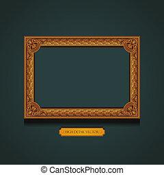 cadre graphique, wall., vendange