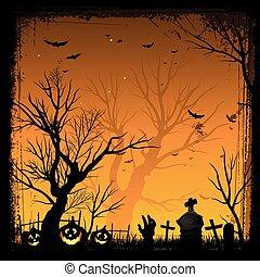 cadre, halloween