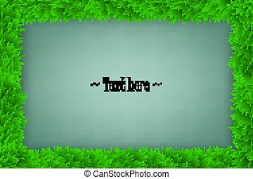 cadre, herbe, arrière-plan vert