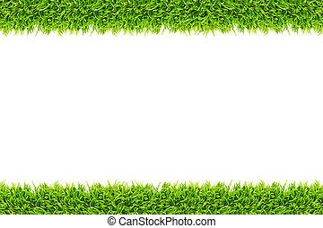 cadre, herbe, isolé