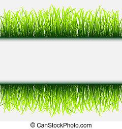 cadre, herbe, vert