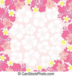 cadre, hibiscus