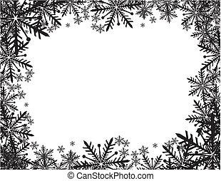 cadre, hiver