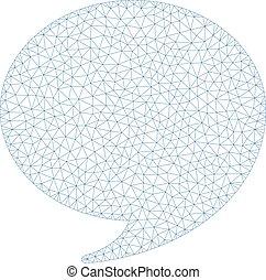 cadre, illustration, polygonal, vecteur, réponse, maille
