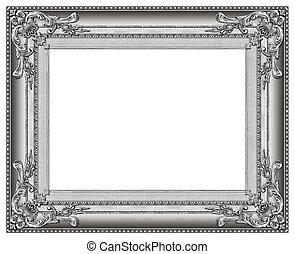 cadre, image, argent