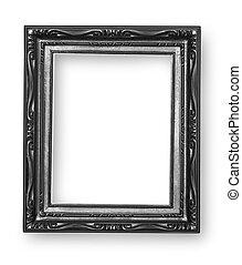 classique cadre isol victorien noir miroir. Black Bedroom Furniture Sets. Home Design Ideas