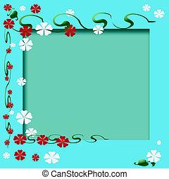 cadre, jardin fleur