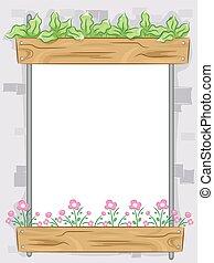 cadre, jardin, vertical