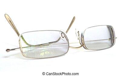 cadre, lunettes, oeil, mince