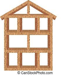 cadre maison, bois