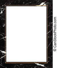 cadre, marbre noir