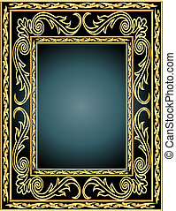 cadre, modèle, légume, gold(en)