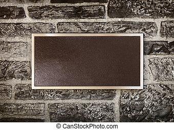 cadre mur, signe métal
