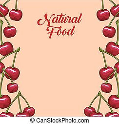 cadre, naturel, fruits