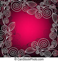 cadre, noël, pink-red