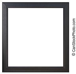 cadre, noir, isolé, image