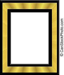 cadre, noir, or