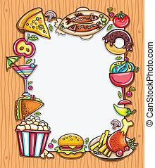 cadre, nourriture