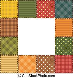 cadre, patchwork