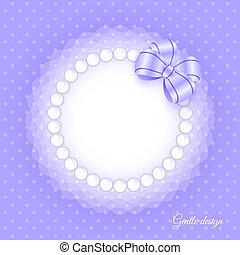 cadre, perles, arc