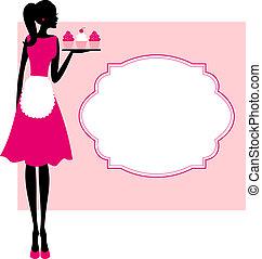 cadre, petits gâteaux