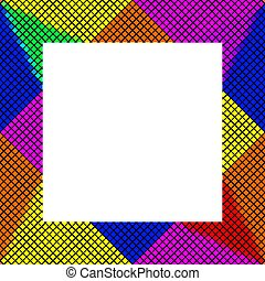 cadre, pixelated