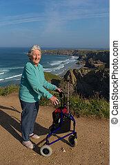 cadre, retraité, mobilité, personnes agées