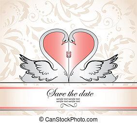 cadre, salutation, mariage