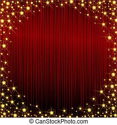 cadre, sparkly, rouges
