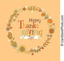 cadre, thanksgiving, fête