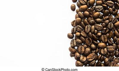 cadre, unsorted, remplissage, grains café