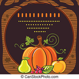 cadre, vacances, thanksgiving, 7