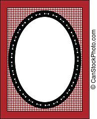 cadre, vecteur, étiquette, ou, valentin