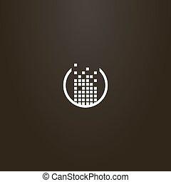 cadre, vecteur, conception, carrés, signe, ensemble, rond, construit, simple