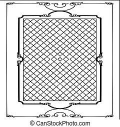 cadre, vecteur, fond blanc