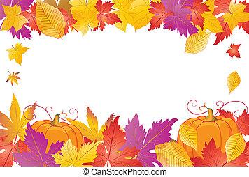 cadre, vecteur, thanksgiving, heureux