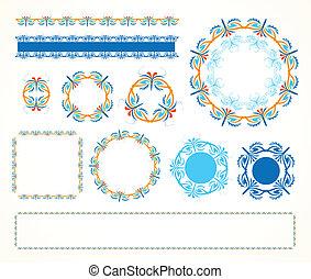 cadre, vendange, décoratif