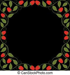 cadre, vendange, floral