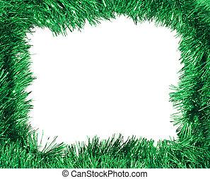 cadre, vert, clinquant