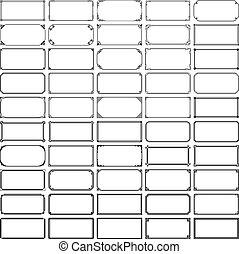 cadres, 50, rectangle