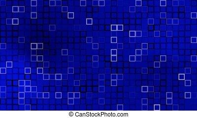 cadres, carré bleu, structure, surface, fond, -, résumé, couleur changeant, mosaïque