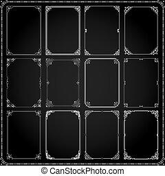 cadres, décoratif, ensemble, rectangle, 8, frontières