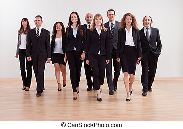 cadres, groupe, business, approchant