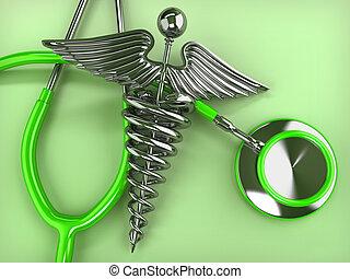 Caduceo, Simbolo, stetoscopio, medicina
