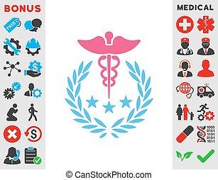 Caduceus Logo Icon - Caduceus Logo vector icon. Style is...