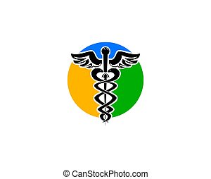 Caduceus medical sign logo