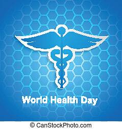Caduceus medical symbol beautiful World health day design vector