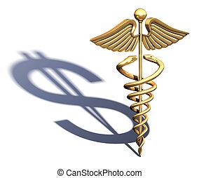 Caduceus Medical Symbol chrome