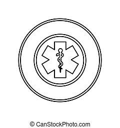 caduceus medical symbol icon