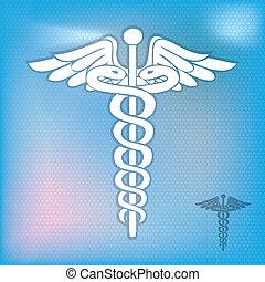 Caduceus medical symbol vector illustration10